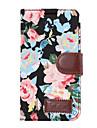 Capinha Para HTC Porta-Cartao Carteira Com Suporte Flip Capa Protecao Completa Flor Rigida PU Leather para HTC One M9 HTC One M8
