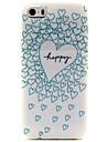 design de mode Coco Fun® bleu bord love pattern TPU doux IMD de couverture de cas pour iphone 5 / 5s
