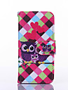 Love Owl Pattern PU Leather Full Body Case with Stand for iPhone 5C