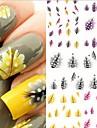 Autocolantes de Unhas 3D - Flor/Abstracto/Adoravel - para Dedo - de Outro - com 5 - 10.5X7X0.5