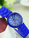 Women\'s Quartz Wrist Watch Casual Watch Silicone Band Charm Casual Fashion Black Blue Red Green Pink Purple Yellow Beige Rose
