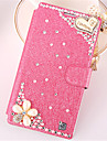 Case For Samsung Galaxy Samsung Galaxy Note7 Card Holder Rhinestone with Stand Flip Full Body Cases 3D Cartoon PU Leather for Note 7 Note