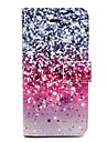 Painted Pattern PU Leather Full Body Case with Card Slot and Stand for iPhone 5/5S