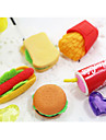 Hamburger Cola Potato Chips Fast Food Topic Character Rubber Eraser (Random Color)
