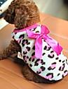 Кошка Собака Футболка Одежда для собак Бант Красный Розовый Флис Костюм Для домашних животных Муж. Жен. На каждый день