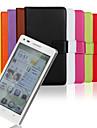 estilo carteira de couro pu capa de corpo inteiro com slot para cartao para suporte e Huawei Ascend G6 (cores sortidas)