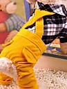 Собака Костюмы Комбинезоны Одежда для собак Хлопок Весна/осень Зима Косплей На каждый день В клетку Черный Красный Для домашних животных