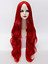 Wigs for Women Red Long Wavy Costume Party Cosplay Wigs For Halloween