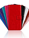 For Huawei Case Wallet / Card Holder / with Stand / Flip Case Full Body Case Solid Color Hard PU Leather Huawei Ascend G620s
