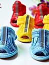 Chat Chien Chaussures & Bottes Decontracte / Quotidien Couleur Pleine Jaune Rouge Bleu Rose Arc-en-ciel Pour les animaux domestiques