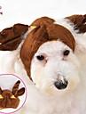 고양이 강아지 코스츔 의상 반다나 & 모자 강아지 의류 코스프레 웨딩 할로윈 브라운 코스츔 애완 동물