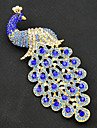 Women\'s Brooches Gold Plated Peacock Vintage Fashion Brooch Jewelry Royal Blue For Party Special Occasion