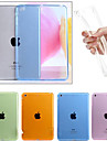 Case For Apple iPad Mini 4 iPad Mini 3/2/1 iPad 4/3/2 iPad Air 2 iPad Air Transparent Back Cover Solid Color Soft TPU for iPad Mini 4