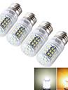 E14 E26/E27 Lampadas Espiga T 48 leds SMD 2835 Decorativa Branco Quente Branco Frio 600lm 3000/6000K AC 85-265 30/9V