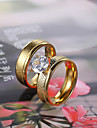European and American fashion diamond couple rings Series 2 Couple Rings Wedding/Party/Daily/Casual 2pcs