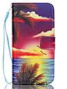 пейзаж шаблон PU кожаный чехол для телефона Galaxy S3 / S4 / S5 / S6 / EDGE / s6 s6 галактики края плюс / S3 мини / S4 мини / S5 мини