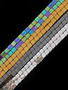 beadia 1str (약 140pcs) 자연적인 돌 구슬은 사각형 모양의 양쪽 비즈 DIY 보석 결정을위한 4 가지 색상 U-선택을 2x2mm