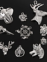 Beadia Antique Silver Metal Charm Pendants Dragon Tiger Wolf  Deer Elephant  Head Shape DIY Jewelry Pendant