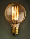 E27 40W G80 Straight Wire Restaurant Hotel Ball Edison Retro Decorative Light Bulb