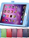 rotation de la surface de litchi etui en cuir PU pour Apple iPad mini-4 avec la retine de reveil du sommeil magnetique stand intelligent