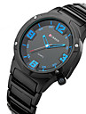 CURREN Men\'s Wrist watch Quartz Water Resistant / Water Proof Sport Watch Stainless Steel Band Charm Black