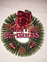1Pc Christmas Pine Needles Wreath(Red) Christmas Decorations