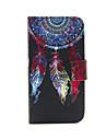 아이폰 5C에 대한 펄럭 monternet 포털 패턴 PU 가죽 전신 카드 슬롯 케이스와 스탠드