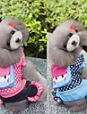 Dog Coat Jumpsuit Dog Clothes Casual/Daily Polka Dots Rose Blue Costume For Pets