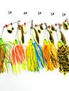4 개 소프트 베이트 낚시 미끼 버즈베이트& 스피너베이트 미끼 소프트 베이트 다양한 색상 팬텀 g/온스,100 mm 인치,실리콘 메탈 바다 낚시 루어 낚시 일반적 낚시