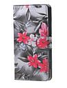 Pour Coque Alcatel Etuis coque Portefeuille Porte Carte Avec Support Clapet Motif Coque Integrale Coque Fleur Dur Cuir PU pour Alcatel