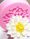 1 pc diy lotusflower gateau gel de silice moule cuisine cuisson moule
