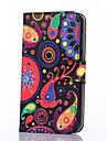 Для Кейс для  Samsung Galaxy Кошелек / Бумажник для карт / со стендом / Флип / С узором Кейс для Чехол Кейс для Мультяшная тематика