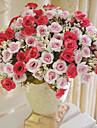 פרחים מלאכותיים 1 ענף סגנון ארופאי ורדים פרחים לשולחן
