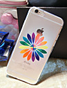 Colorful Flowers Pattern TPU Transparent Soft Shell Phone Case Back Cover Case for iPhone6 Plus