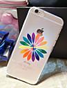 motif de fleurs colore TPU carapace molle transparente telephone affaire couvercle du boitier pour plus de iPhone6
