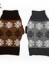 Chat Chien Pull Vetements pour Chien Decontracte / Quotidien Motif de flocon de neige Gris Cafe Costume Pour les animaux domestiques