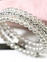 여성 포장 팔찌 멀티 레이어 의상 보석 펄 모조 진주 라인석 모조 다이아몬드 합금 보석류 제품 일상 캐쥬얼