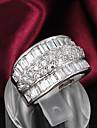 2015 Fashion Noble CZ Stone Sterling Silver Band Rings For Woman & Lady