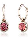 Boucles d\'oreille goutte Cristal Plaque or Imitation de diamant Mode Rouge Bijoux Soiree Quotidien Decontracte 2pcs