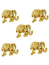 10pcs Tiny Gold Elephant 3D Alloy Nail Art Decoration 5mm x7mm