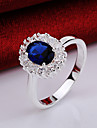 MISSING U Crystal / Zircon / Copper / Silver Plated Ring Statement Rings Party / Daily 1pc