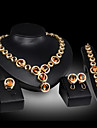 Set bijuterii - Piatră Preţioasă, Zirconiu Cubic Picătură Petrecere, Lanț Include Auriu / Rosu Pentru / Σκουλαρίκια / Coliere