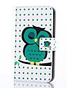 Capinha Para Samsung Galaxy Samsung Galaxy Capinhas Porta-Cartao Carteira Com Suporte Flip Estampada Capa Protecao Completa Corujas PU