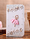Case For Samsung Galaxy Samsung Galaxy Case Card Holder Rhinestone Flip Full Body Cases Cartoon PU Leather for S6 edge S6 S5 Mini S5 S4