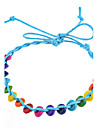 Sweet Handmake Braided Colorful Wood Beads Friendship Bracelet