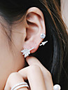 European and American Fashion Street Beat Arrows Rhinestone Earrings