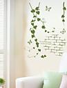 Romance Botanique Stickers muraux Autocollants avion Autocollants muraux decoratifs, Vinyle Decoration d\'interieur Calque Mural Mur