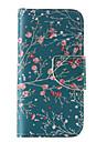 용 아이폰5케이스 지갑 / 카드 홀더 / 스탠드 / 플립 / 패턴 케이스 풀 바디 케이스 꽃장식 하드 인조 가죽 iPhone SE/5s/5