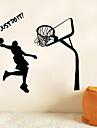 Autocolantes de Parede Decorativos - Adesivos de parede de pessoas Pessoas / Esportes Sala de Estar / Quarto / Banheiro / Removivel