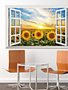 Sunflower Wall Stickers Plane 3D Wall Stickers